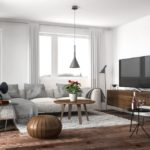 Modern living room. Render image.